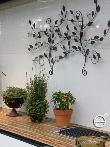 enfeites para jardim japones:para colocar um bonito acessório de ferro para velas. Imagine à